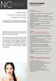 Programme Formation prothésie ongulaire 6 semaines