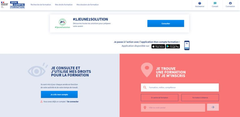 Page accueil site CPF